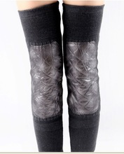 customized Women wool knee Winter Warm Thermal Extended Stretched Elastic Knee Braces Knee Supports in china