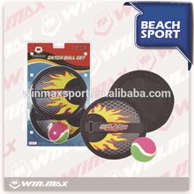 Winmax marca de la playa del verano que lanza juegos de salpicaduras de coger la bola set, Velcro del retén de juego