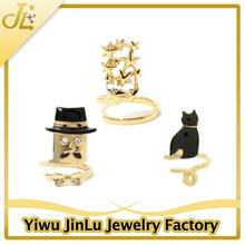 Fashion triple combination ring nails