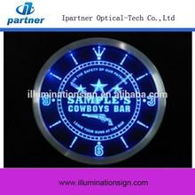 Custom New Type Lighted Led Wall Clock