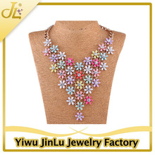 Fashion resin flowers necklace jewelry manufacturer