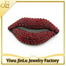 Fashion rhinestone brooch red lips sex products
