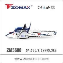 power tool CDI ignition system 54.5cc ZM5600 adjust chainsaw carburetor for firewood cutting