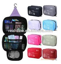 Free shipping! water proof nylon travel wash cosmetic toilet bag storage organizer,make up bag