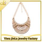 Fashion gold geometrical 2014 statement necklace