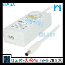 Good quality factory ac/dc 12V 3a desktop type power adaptor 36w