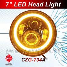 bulk sale price IP6K9K water resistant DC 12v for harley motorcycle 7inch round head lamp