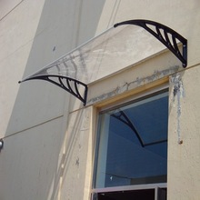 DIY Polycarbonate Canopy Awning Brackets For Balcony Or Patio with Kinds of Colors