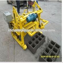Tanzania best sale manual concrete block making machine /qt40-3a solid/hollow brick machine