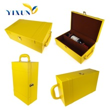 PU Leather Portable Wine Carrier ,wine gifts box, leather wine case