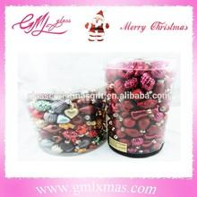 Best Selling holiday X'mas decoration glass pumpkin decoration,barrelled christmas mini ornaments glass pumpkin for tree decor