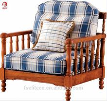 New design wood arm sofa chair/couch/modern fabric sofa set
