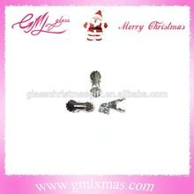 Top quality popular Christmas ball cap, good quality mini aluminum cap matel cap with clips fpr glass bird glass ornaments