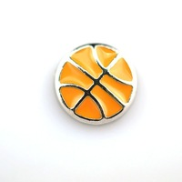 Basketball watch bracelet with floating charms locket