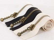 Copper Short Zippers - Scallop Clothes Purse Bags Metal Zipper Trim DIY Fabric Crafts 3'Pcs - 7.9 Inches