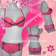 Girl's Sweety Lace Gauze Bra Set New Design