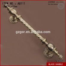 Zinc alloy luxury design gold polish handle bar