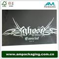 personalizado ampackaging uv de lujo de la laminación de matt con bisagras de papel negro de la caja para cigares
