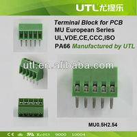 2 Pin 2.54mm PCB Universal Screw Terminal Block Connector 125V 6A