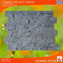 Black cladding slate exterioe wall stone