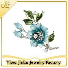 Fashion enamel flower brooch for bikini