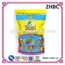 Plastic pet bird food packing bag