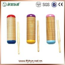 Juguete de la música de madera instrumento guiro instrumento musical de percusión mini guiro