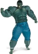 2015 Popular del traje hulk, Inflable Cosplay traje para niños y adultos