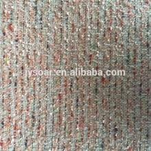 special yarns fancy tweed with golden silk wool/woolen fabric for garments
