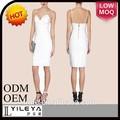 Européenne style robes d'été blanche élégante robe arabe des femmes
