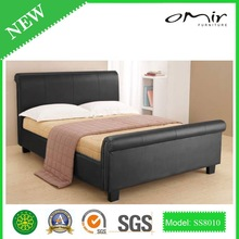 modern leather bed/ classic hotel bedroom furniture