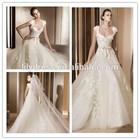 Bow Casamento Princess Portrait Zipper Crocheted 2015 A-Line Bridal New Style MM-0077 Vintage Lace Wedding Dress Patterns