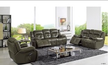 American army style leather recliner Sofa living room furniture chesterfield leather recliner sofa set
