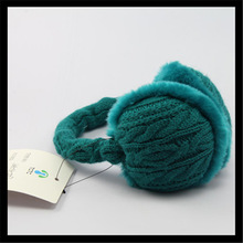 Green cable knit earmuffs,unisex fashion gifts,OEM and ODM are welcome