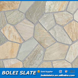 Irregular shape stone floor tiles