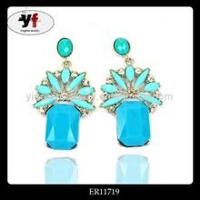 Zinc alloy earring fashion jewelry drop earring fashion earring