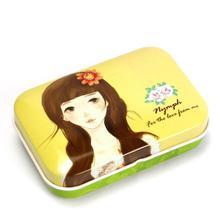 beautiful young girl tin pencil case,high quality pencil case,uk stainless metal tin box