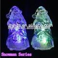 светодиодного кристалла рождественский снеговик мини ночь свет меняется 7 цветов дампы и домашнего украшения свет
