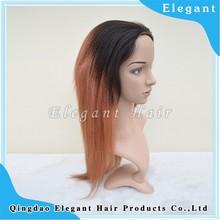 cheap yaki straight ombre color machine made high temperature synthetic fiber wigs