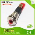 A prueba de agua filn 220v 12mm luz de metal 24v 12v led rojo 110v lámpara de señal( fábrica venta)