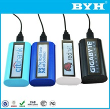 LED logo display high capacity 5600mah universal power bank for macbook pro /ipad mini with 3 in 1 cable