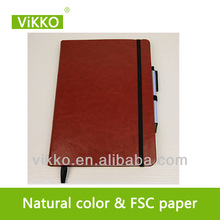 a4 blocks clear cover leather organizer notebook