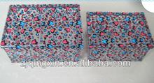 customized LOGO printed PVC plastic wire frame storage box