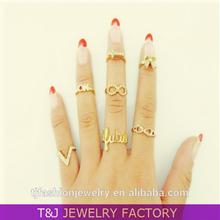 2015 Latest ladies crystal jewelry set new fashion crystal high quality wedding ring sets TJ5037