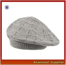 XJ0998/Ladies knit beret hat / cheap beret for ladies