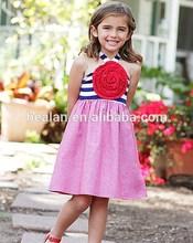 2015 Newest wholesale Girls summer sleeveless stripe dress cotton made girl dress persnickety children clothing