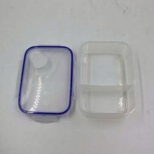 Hermetic Transparent 2 Compartments Keep Food Warm Lunch Box