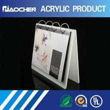 clear excellent quality acrylic desktop calendar stand