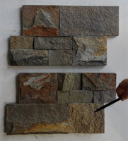 Natural slate rustic color stone exterior wall cladding tile