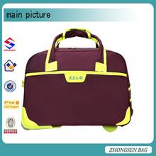 Large capacity and fashionable nylon duffle gym bag New Custom Design Leather Travel Duffle Bag